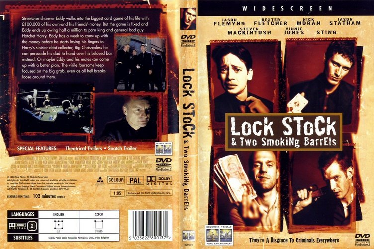 the use of technical codes to portray the theme of gambling in lock stock and two smoking barrels Wacky-but-true: doc removes two pens from man's intestines _ surgeons in china removed two objects that were stuck in a man's intestines for 36 years and yes, alcohol was the cause and yes, alcohol was the cause.