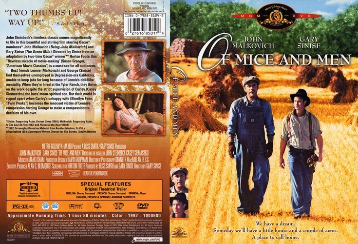 sinises film version of mice and men essay 'of mice and men': differences between book & film of mice and men - the final scene film how to write about candy in of mice and men to get.